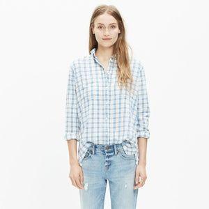 Madewell Flannel Oversized Boyshirt, Benton Plaid